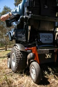 The Magic 360 powerchair tackles the great outdoors